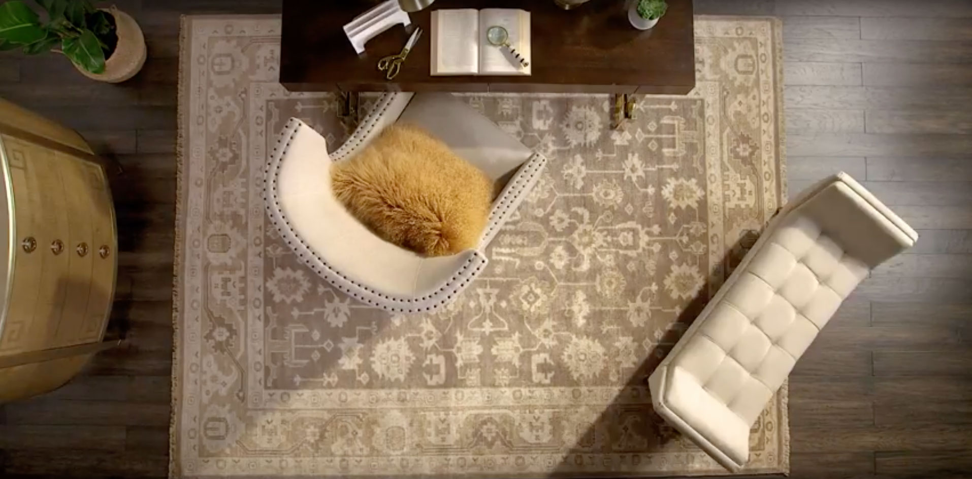 How to pick the right size rug for your room
